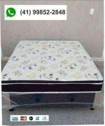 Líquida estoque cama box molas (base+colchão)