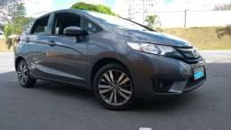 E3 Honda Fit Exl 1.5 cvt completo - multimidia - couro - baixo km - 2015