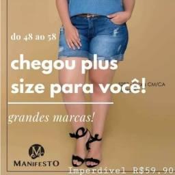 Bermudas jeans plus size, do 48 ao 60, marcas top!