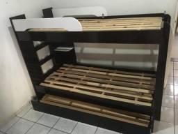 Cama beliche e 1 cama gaveta (treliche)