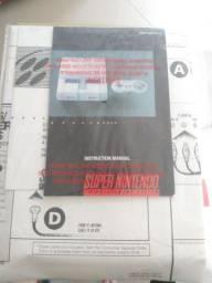 Antigo poster e manual em inglês Super Nintendo