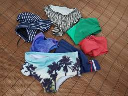 Moda praia masculina sungas seminovas $15 cada