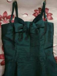 Vestido festa longo verde tamanho 34