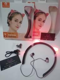 Fone Gatinho LED Bluetooth