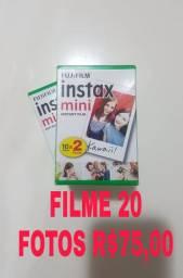 Filme Instax 20 fotos R$ 75,00