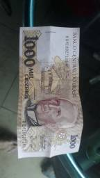 Nota de 1.000 Cruzeiros para colecionadores.