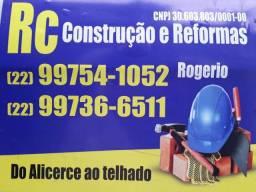 Construção Civil em geral, Pedreiro, Serralheria