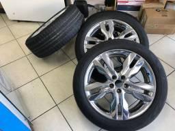 Rodas aro 20 com pneus RANGER e FORD EDGE