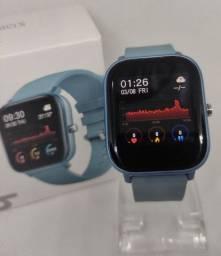 Relógio Smartwatch P8 Original - Novo (Azul)