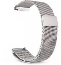 Pulseira em Aço Inox Magnética Prata 20mm