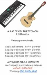 Aula de violão e teclado, á distância, para crianças e adultos