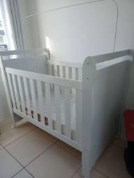 Título do anúncio: Berço infantil + colchão Ortobom