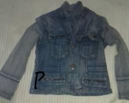 Jaqueta jeans feminina tamanho P e M
