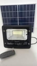 Refletor Solar Led 60w. c/ controle remoto e placa solar Blindado