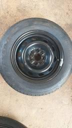 4 pneus e 4 rodas originais Good year