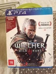 Título do anúncio: Jogo de PS4 The Witcher 3