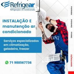 Instalação e manutenção de Ar condicionado, geladeira e freezer