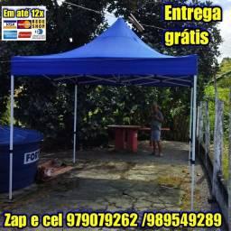 Título do anúncio: TENDA SANFONADA REFORÇADA AZUL DE PRIMEIRA LINHA Frete grátis