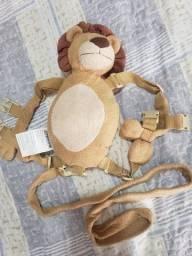 Mochila Coleira Segurança Guia Infantil Leão