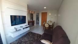 EC-apartamento 02 quartos mobiliado, varanda, lazer, predio novo