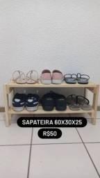 Título do anúncio: Sapateira de madeira pinus para 6 pares de sapatos