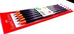 Lápis Faber Castell  6 peças com borracha