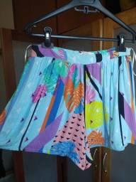 Título do anúncio: shorts azul bebê estampado Pitanga M