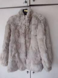 Belíssimo casaco de pele de coelho