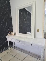 Penteadeira com espelho retro