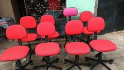 Cadeiras secretária vermelhas