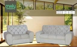 Título do anúncio: Conjunto Sofa de Couro com Frete Gratis