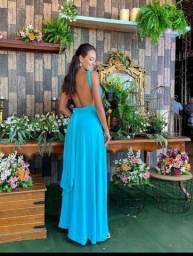 Vestido multiformas Azul Tiffany