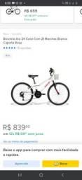 Bicicleta CALOI aro 24 novo poucos anos de uso