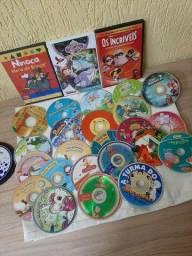 Título do anúncio: Lote DVDs infantil usados.
