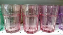 Jogo de copos de vidro Colors