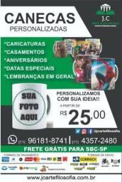 Caneca Personalizada De Porcelana + Caixinha - Frete Grátis para SBC