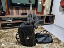 Vendo conjunto de malas para viagem + almofadinha de pescoço grátis