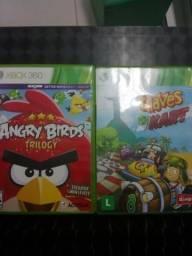 Chaves kart e angry birds para Xbox 360 cada comprar usado  São Gonçalo