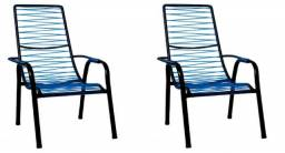 Belas cadeiras de área reforçadas = Entrega grátis!!!