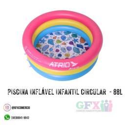 Piscina inflável infantil circular