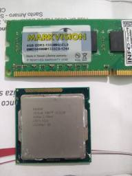 Processador i3 3,4ghtz 1155, memória DDR3 4gb venda ou troca!