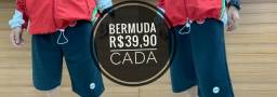 Bermudas moletom diversas marcas e cores