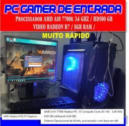 Pc Gamer de Entrada Roda Vários Jogos - A10-7700k 3.ghz -8 de Ram - Hd 500 Leia Tudo