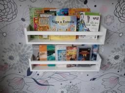 Kit 2 Prateleiras para Livros e Revistas 60cm