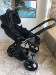 Carrinho de Bebê Fischer-Price com Moisés e Bebê Conforto - Três rodas - super novo!