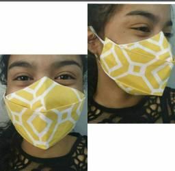 Máscara de proteção 3D com tecido duplo