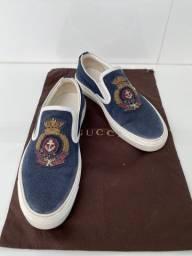 Tênis Gucci Slip On Azul