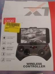 Controle joystick sem fio celular tablet Bluetooth Ipega PG-9025 preto