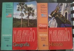 Livro de história né geografia do Maranhão