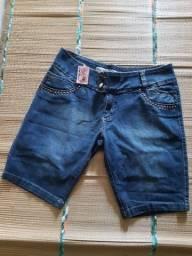 Bermuda jeans com lycra tam 50/52